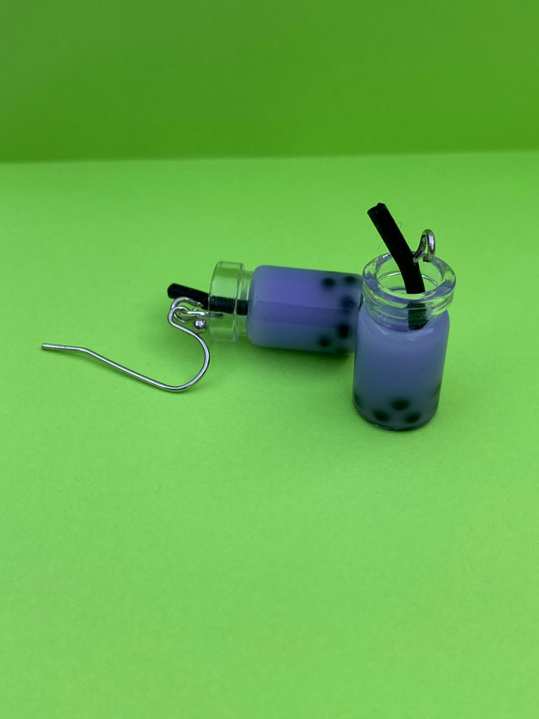 Copy of Copy of Boba Earrings-Taro (Purple)