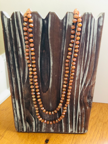 Orange Wrap Necklace