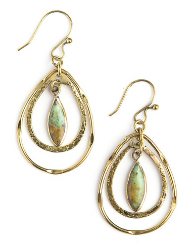 Chalcedony Dangle Earrings