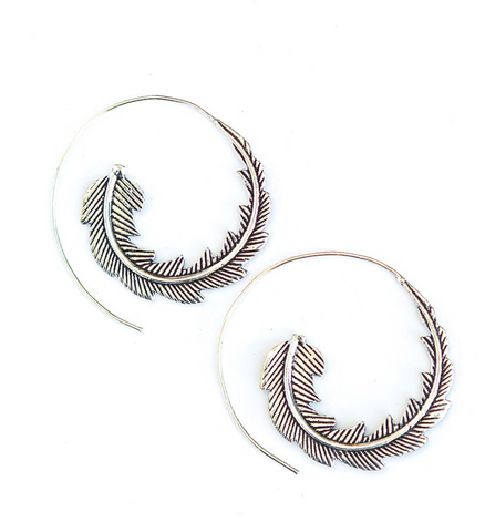 Feather Twist Hoops
