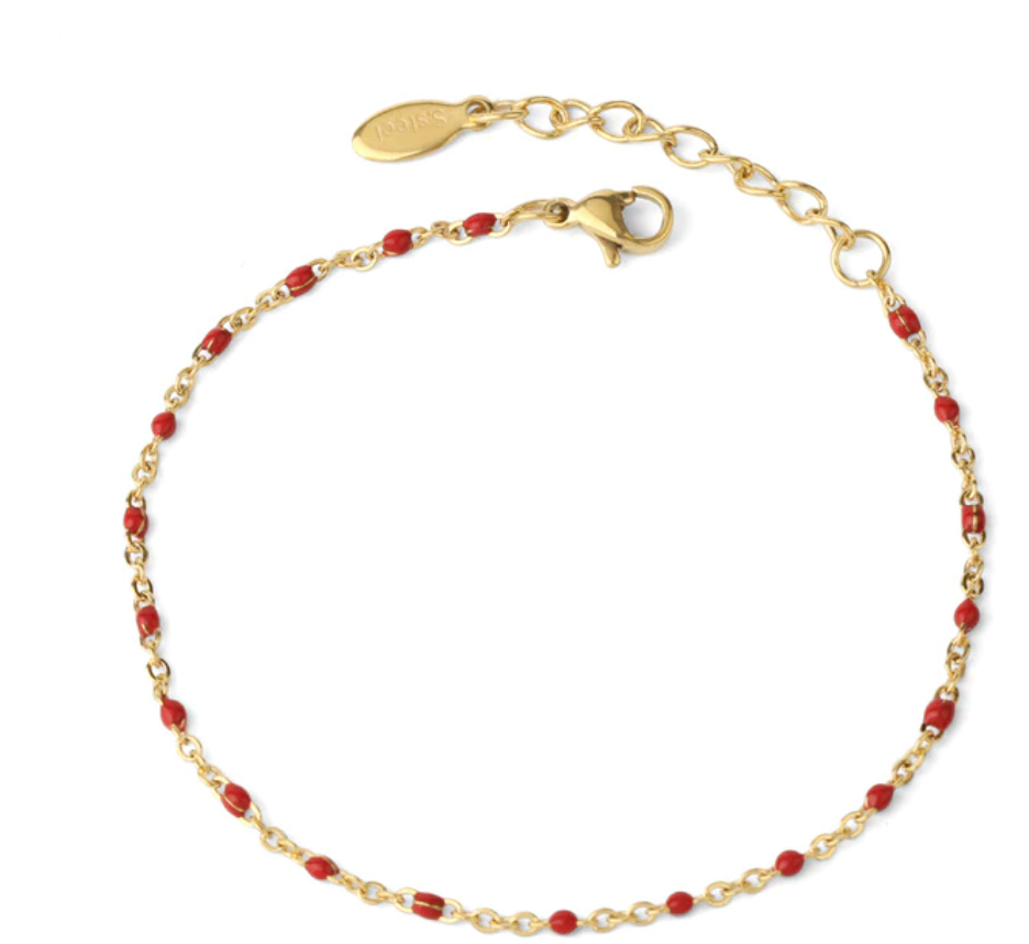 Simple & Sweet: Dainty Gold Chain and Bead Bracelets