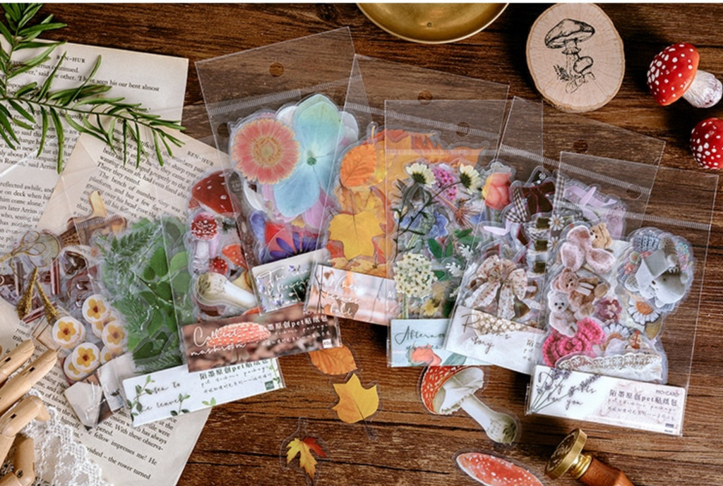 Nature Inspired Transparent Stickers