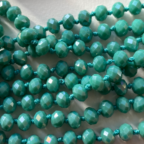 Opaque Teal Wrap Necklace