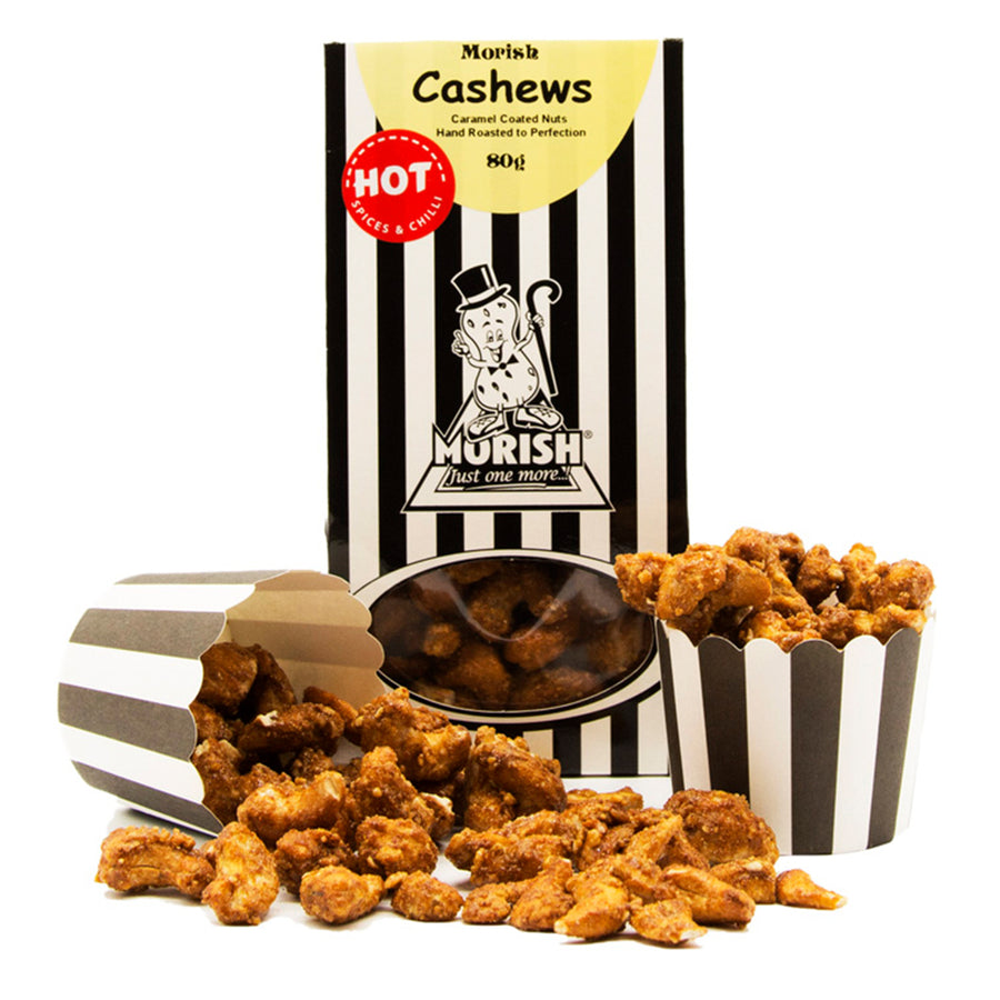 Caramel Coated Cashews - Hot & Spicy