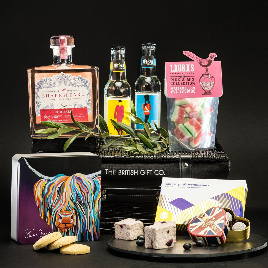 Ginfused - Rhubarb Gin & Tonic Gift Set with Sweets