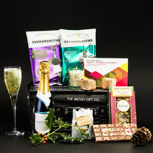 Load image into Gallery viewer, The Treasurer - Christmas Hamper with Chocolate & Sparkling Wine