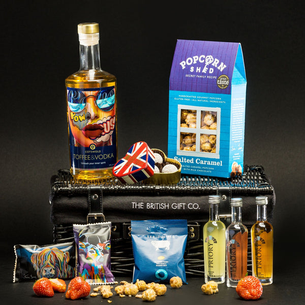 The Muse - Flavoured Vodka Gift Basket with Tasting Minis & Treats