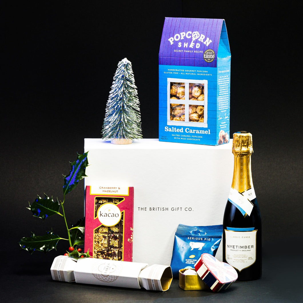 A Christmas Cracker - Christmas Gift Box with Sparkling Wine & Gin Cracker