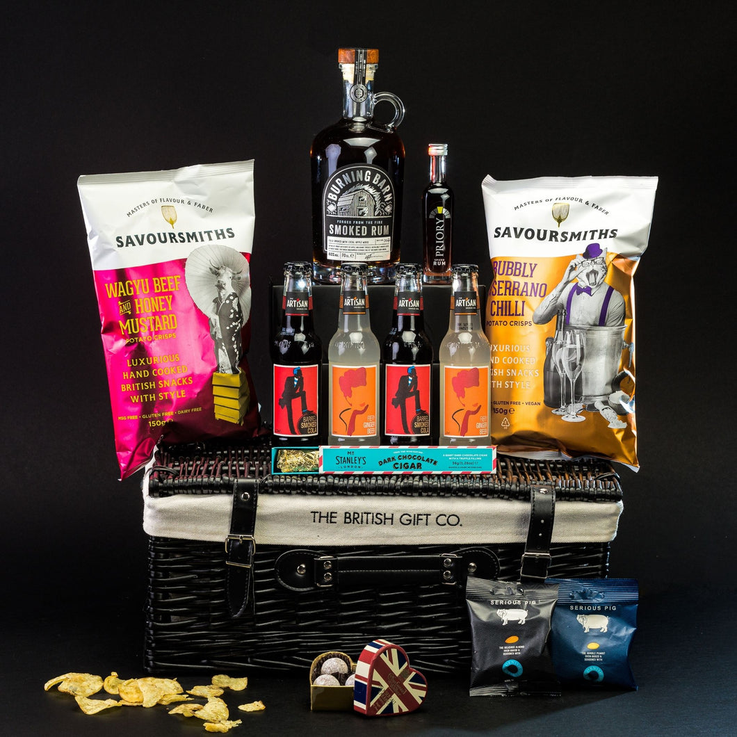 The Merchant - Rum Gift Hamper with Bar Snacks & Truffles