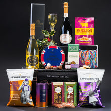 Load image into Gallery viewer, That's a Wrap - Luxury Christmas Hamper with Sparkling Wine & Sharing Treats