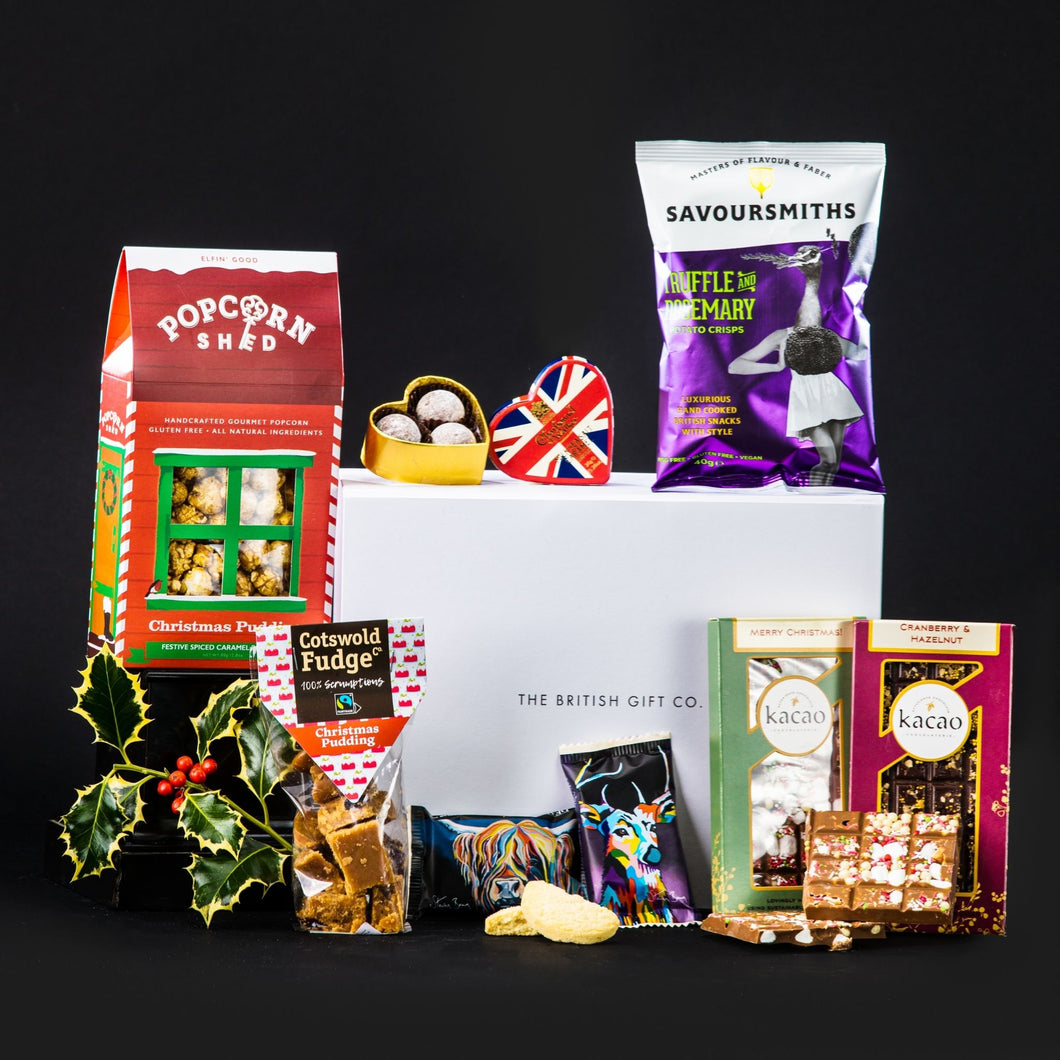 No Time Like the Present - Non-Alcoholic Christmas Gift Box with Sweet Treats