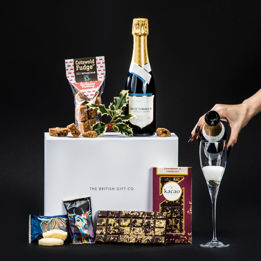 You Had Me at Mistletoe - Christmas Gift Box with Chocolate & Sparkling Wine