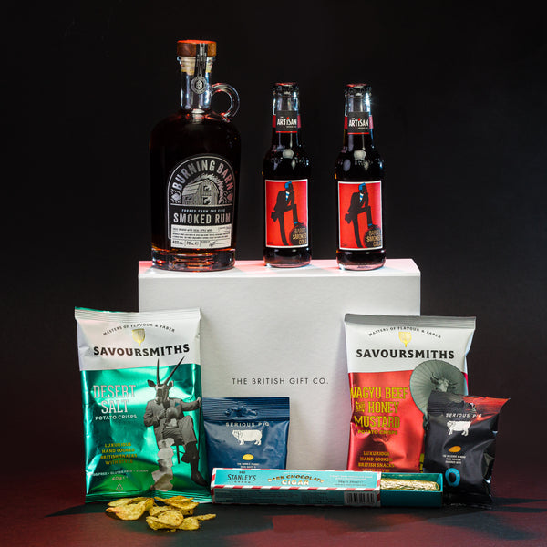 The Swashbuckler - Rum Gift Set with Bar Snacks & a Chocolate Cigar