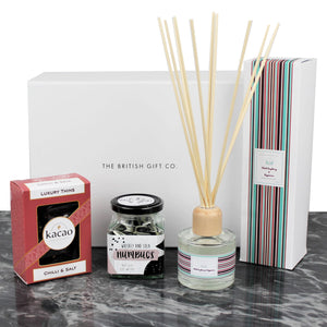 stylish gift with chilli chocolate and funky reed diffuser