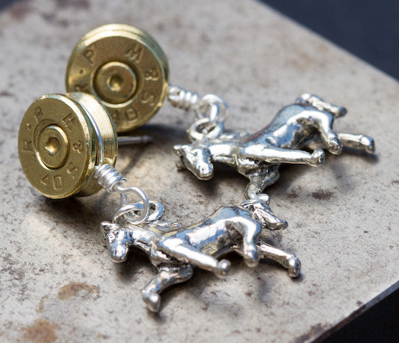 Earrings w/Horses