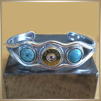 Sterling Silver Cuff Bracelet w/Turquoise