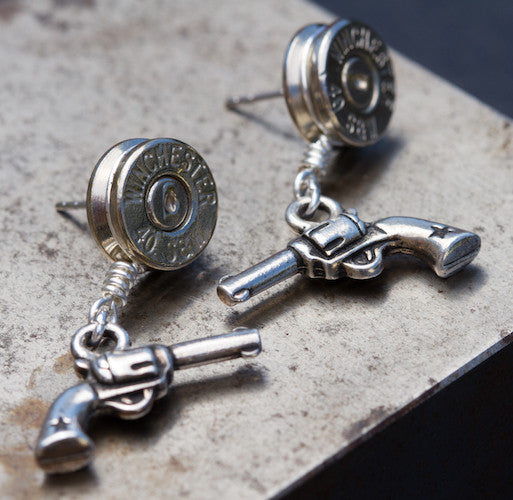 Earrings w/Revolvers