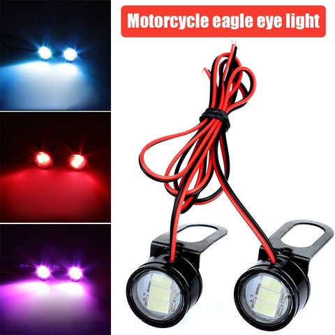 2pcs Motorcycle Light DC 12V Daytime Running Lights DRL Eagle Eye Flashing Light Motorcycle Accessories LED Reversing