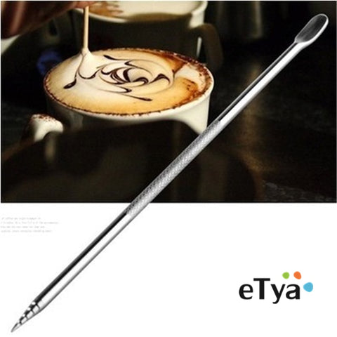 1pcs Barista  Cappuccino Espresso Coffee Decorating Latte Art Pen Tamper Needle Creative High Quality  Fancy Coffee stick tools