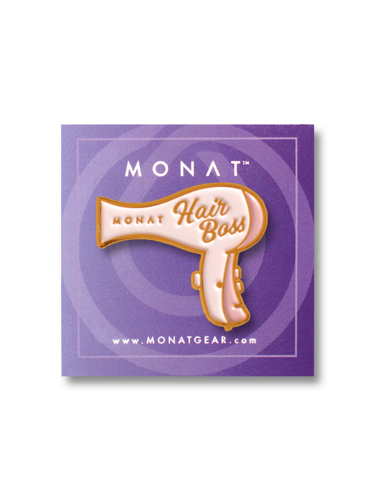 Hair Boss Enamel Pin by Monat Gear