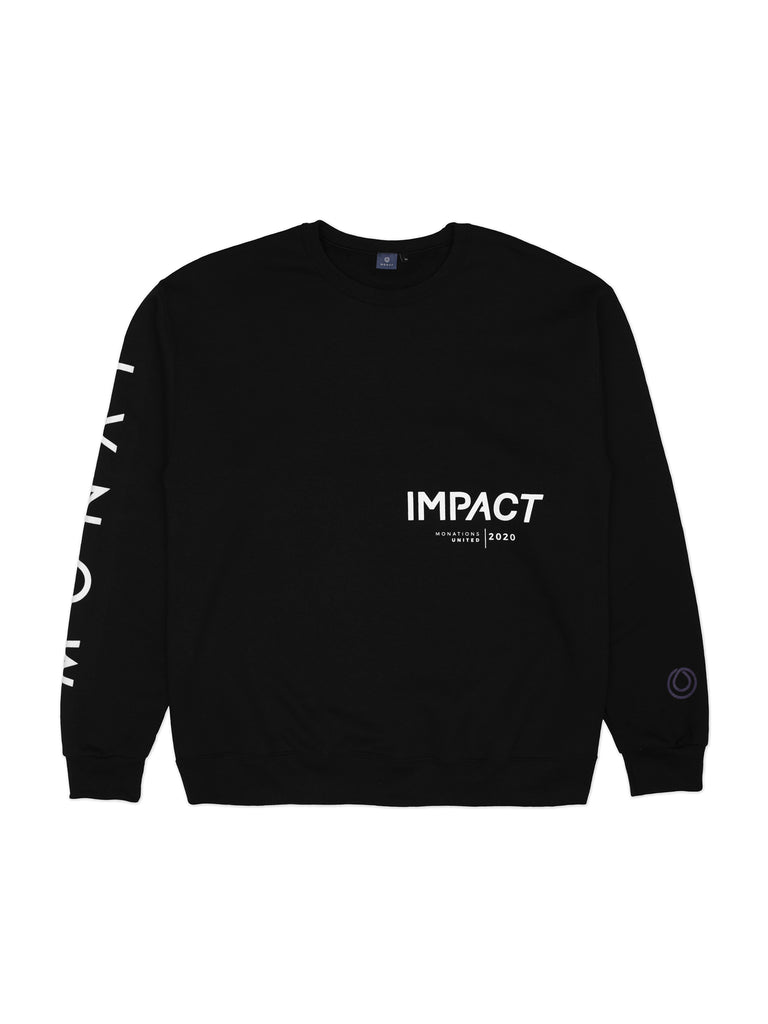 IMPACT Black Crew Neck Sweater