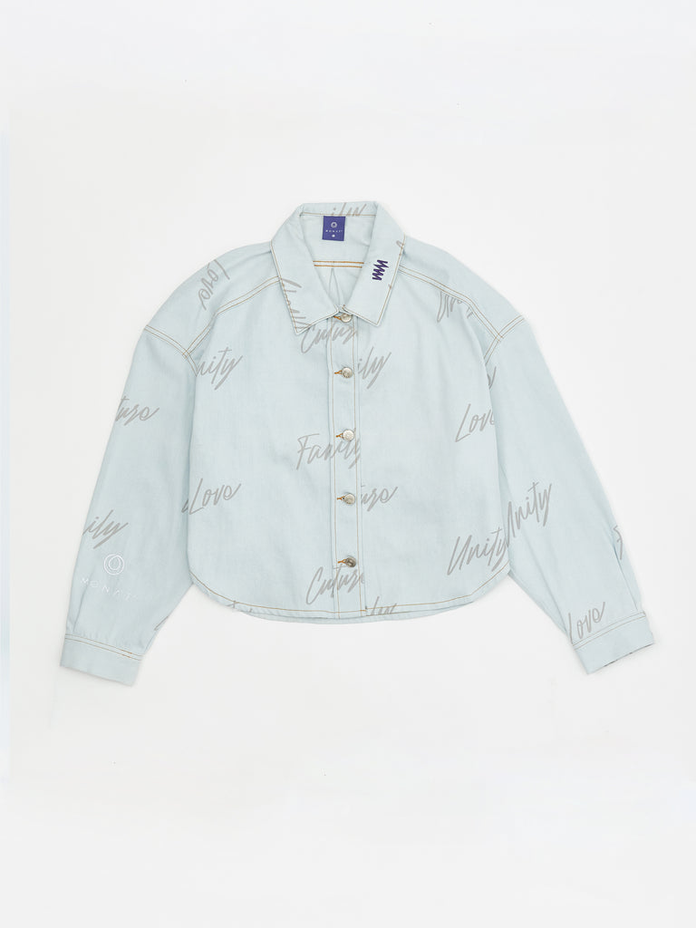 MONAT LOVE DENIM SHIRT