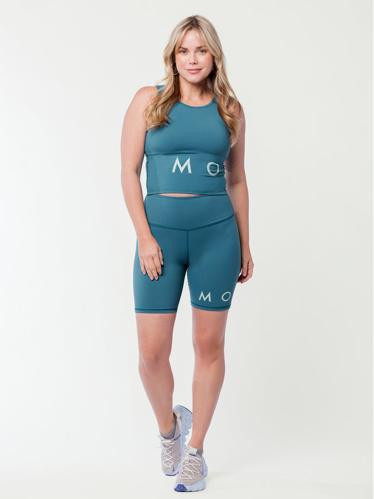 MONAT High Waist Biker Short Dark Teal