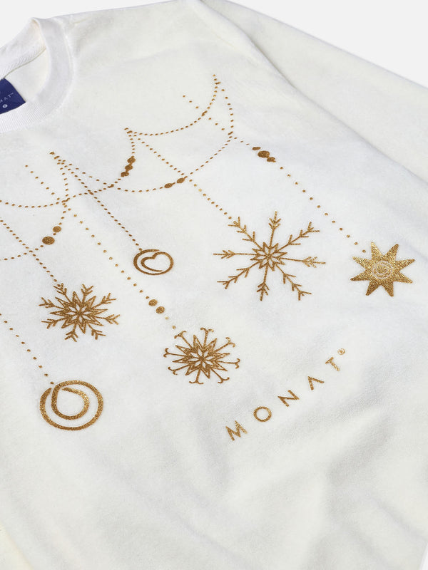 Monat Holiday Sweater - White