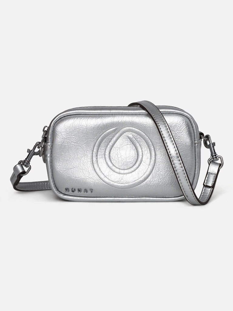 MONAT CROSS BODY BAG -Silver