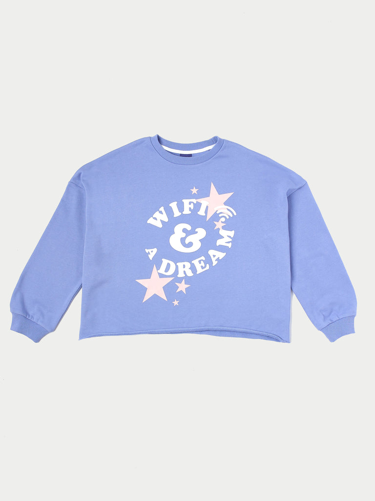 WIFI & A DREAM CROP SWEATSHIRT