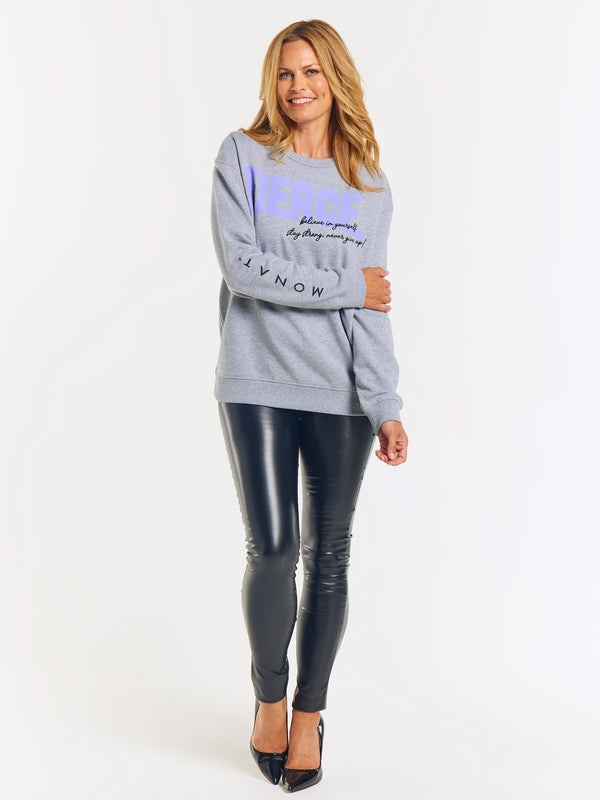 MONAT Fierce Premium Sweatshirt - Grey