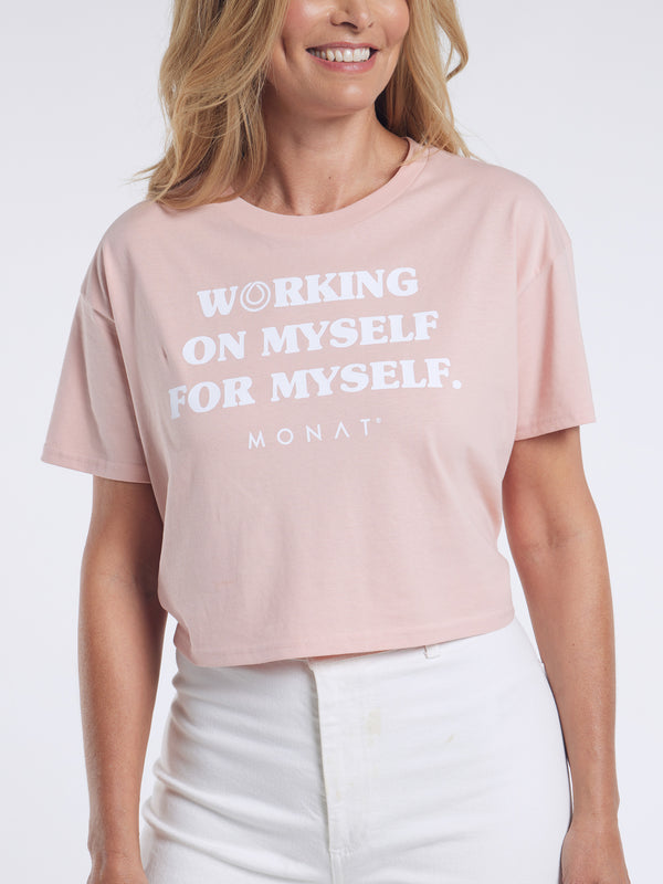MONAT Working Tee Shirt - Pink