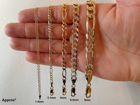 Chain width sizes on hand