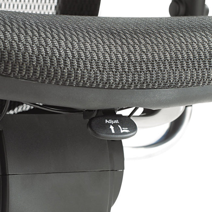 Alera EQ Series Ergonomic Multifunction Mid-Back Mesh Chair, Supports up to 250 lbs., Black Seat/Black Back, Aluminum Base