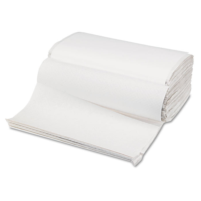 Singlefold Paper Towels, White, 9 x 9 9/20, 250/Pack, 16 Packs/Carton