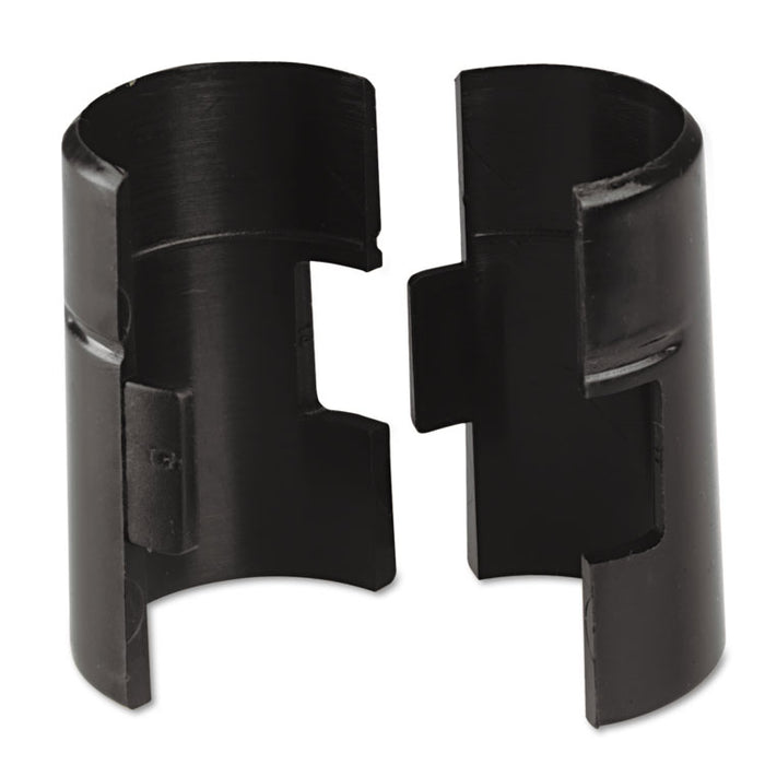 Wire Shelving Shelf Lock Clips, Plastic, Black, 4 Clips/Pack