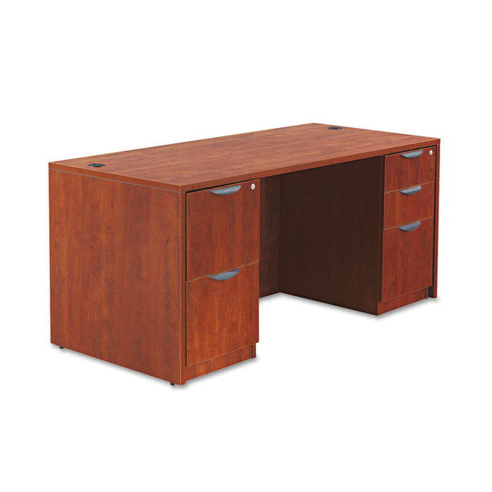 Alera Valencia Series Straight Front Desk Shell, 65w x 29.5d x 29.63h, Cherry