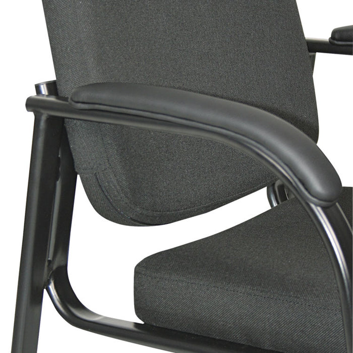 "Alera Genaro Series Half-Back Sled Base Guest Chair, 24.63"" x 26.63"" x 34"", Black Seat/Black Back, Black Base"
