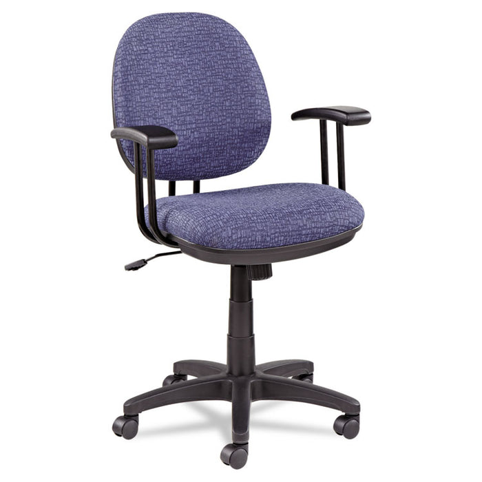 Alera Interval Series Swivel/Tilt Task Chair, Supports up to 275 lbs., Marine Blue Seat/Marine Blue Back, Black Base