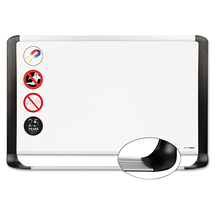 Porcelain Magnetic Dry Erase Board, 48x72, White/Silver