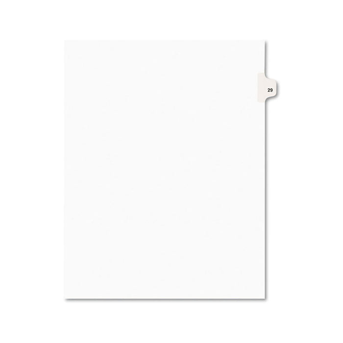 Preprinted Legal Exhibit Side Tab Index Dividers, Avery Style, 10-Tab, 29, 11 x 8.5, White, 25/Pack