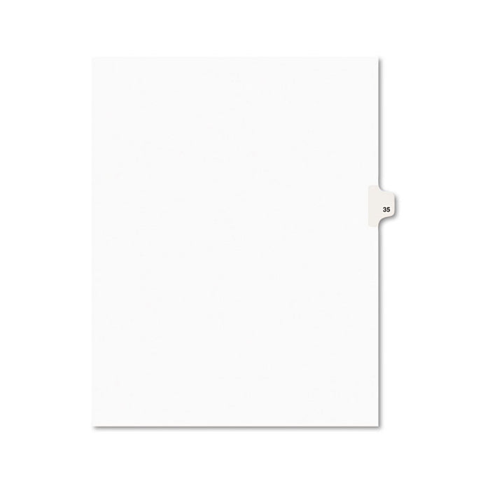 Preprinted Legal Exhibit Side Tab Index Dividers, Avery Style, 10-Tab, 35, 11 x 8.5, White, 25/Pack
