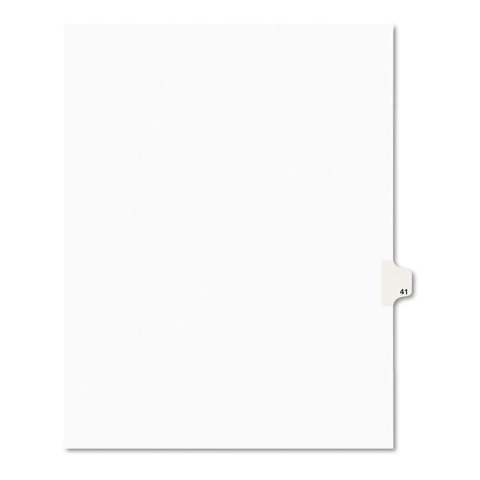 Preprinted Legal Exhibit Side Tab Index Dividers, Avery Style, 10-Tab, 41, 11 x 8.5, White, 25/Pack