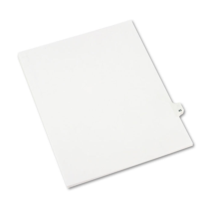Preprinted Legal Exhibit Side Tab Index Dividers, Avery Style, 10-Tab, 45, 11 x 8.5, White, 25/Pack
