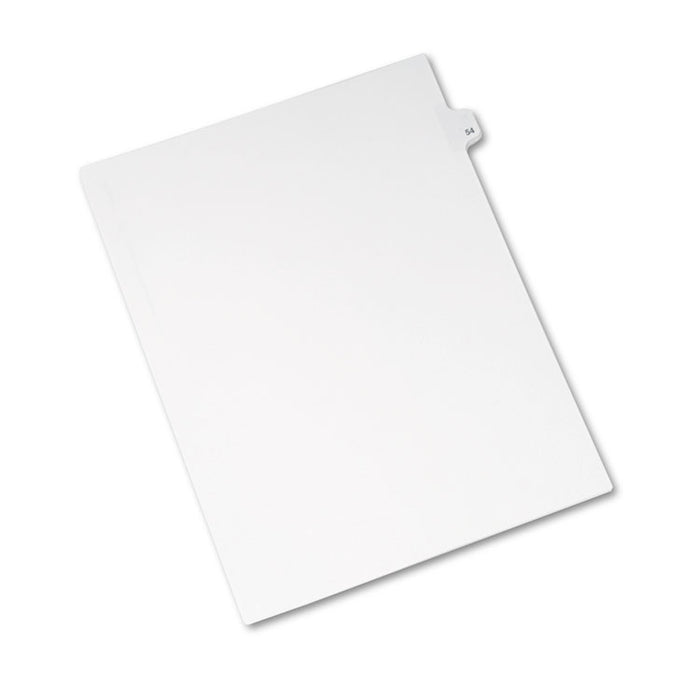 Preprinted Legal Exhibit Side Tab Index Dividers, Avery Style, 10-Tab, 54, 11 x 8.5, White, 25/Pack