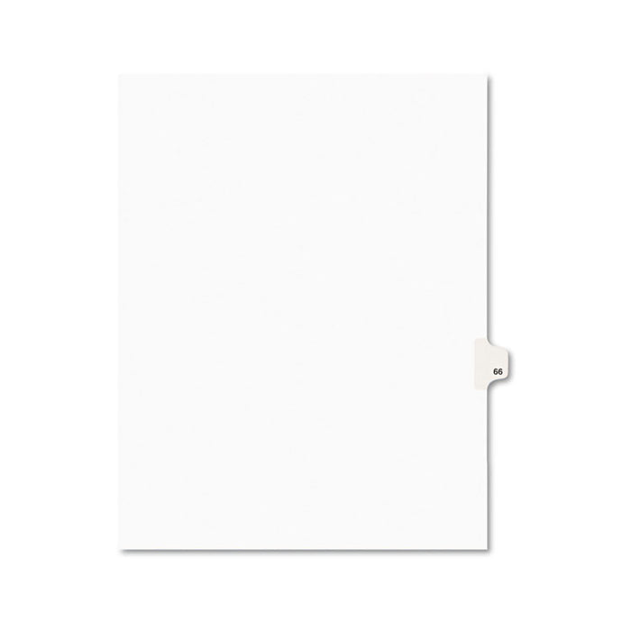 Preprinted Legal Exhibit Side Tab Index Dividers, Avery Style, 10-Tab, 66, 11 x 8.5, White, 25/Pack