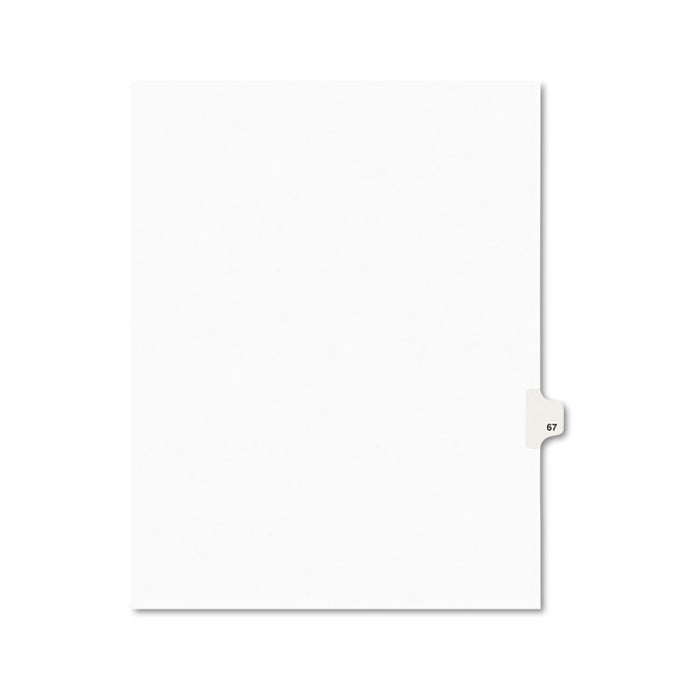 Preprinted Legal Exhibit Side Tab Index Dividers, Avery Style, 10-Tab, 67, 11 x 8.5, White, 25/Pack