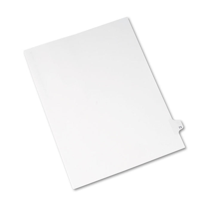 Preprinted Legal Exhibit Side Tab Index Dividers, Avery Style, 10-Tab, 73, 11 x 8.5, White, 25/Pack