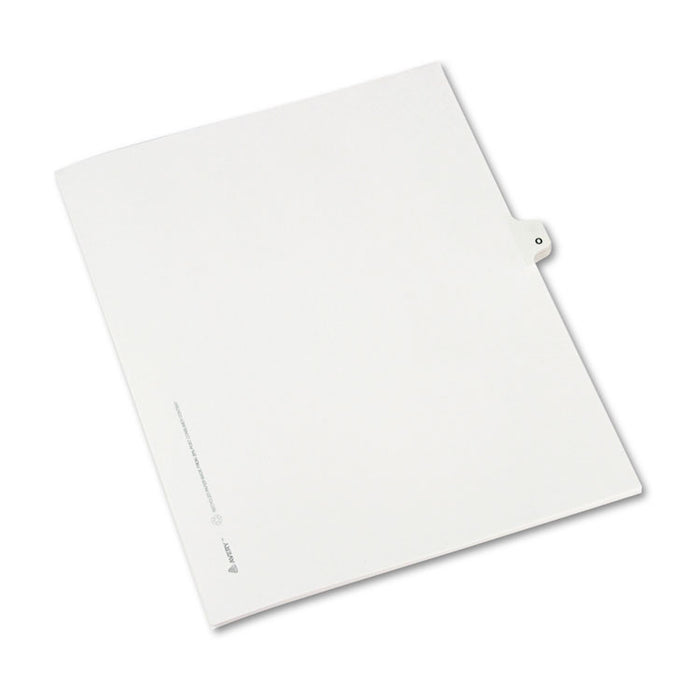 Preprinted Legal Exhibit Side Tab Index Dividers, Avery Style, 26-Tab, O, 11 x 8.5, White, 25/Pack