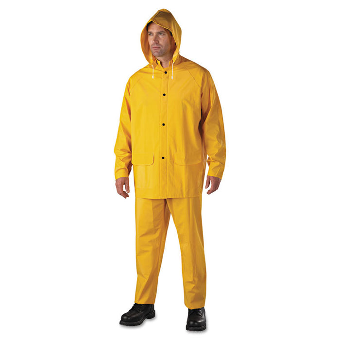 Rainsuit, PVC/Polyester, Yellow, 2X-Large